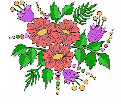 rysunek bukiet kwiatów