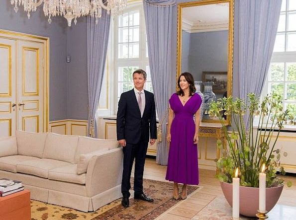 Crown Prince Frederik and Crown Princess Mary of Denmark held a dinner for consultative committee of Global Green Growth Forum (3GF) at Amelienborg Frederik VIII Palace