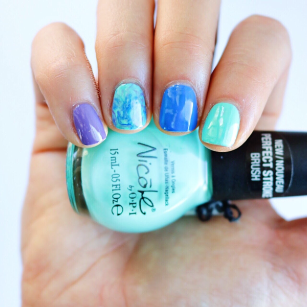 Smooshy Nail Art - Nicole by OPI My Lifesaver - Tori's Pretty Things Blog