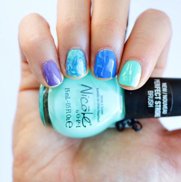 Smooshy Nail Art - Nicole by OPI My Lifesaver - Tori's Pretty Things Blog
