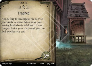 An example of an ACT Card from Arkham Horror
