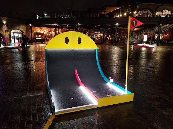 Pop-up Crazy Golf at Coal Drops Yard in King's Cross, London