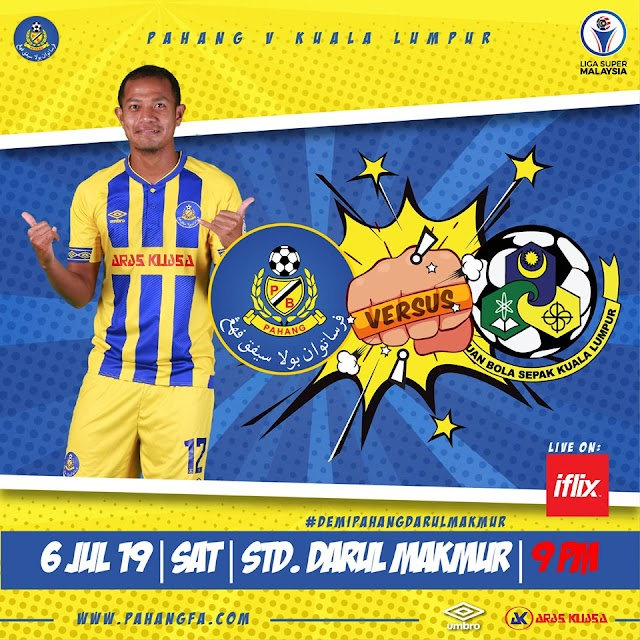 Live Streaming Pahang vs Kuala Lumpur 6.7.2019 (Liga Super)