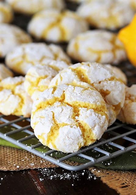 Cake Mix Lemon Crinkle Cookies Image