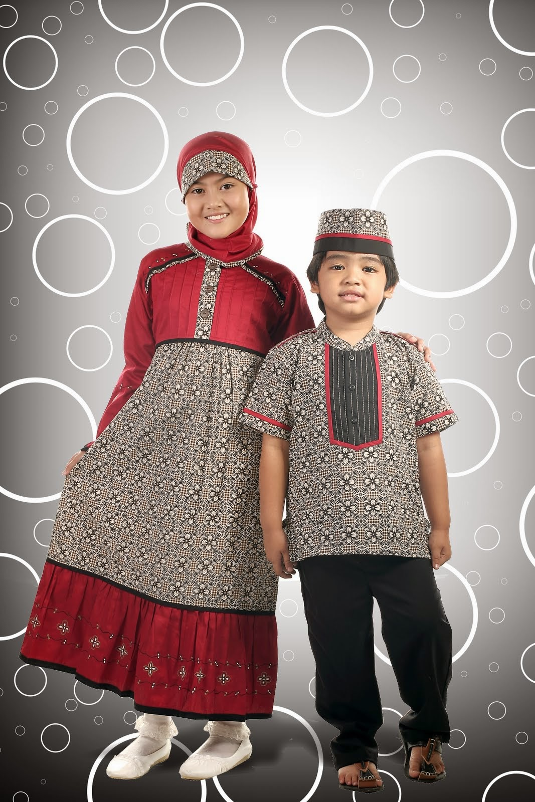 Model Baju Batik Muslim Terbaru Untuk Anak Perempuan Dan Laki Laki
