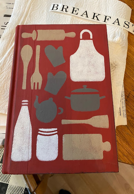 Photo of a stenciled book