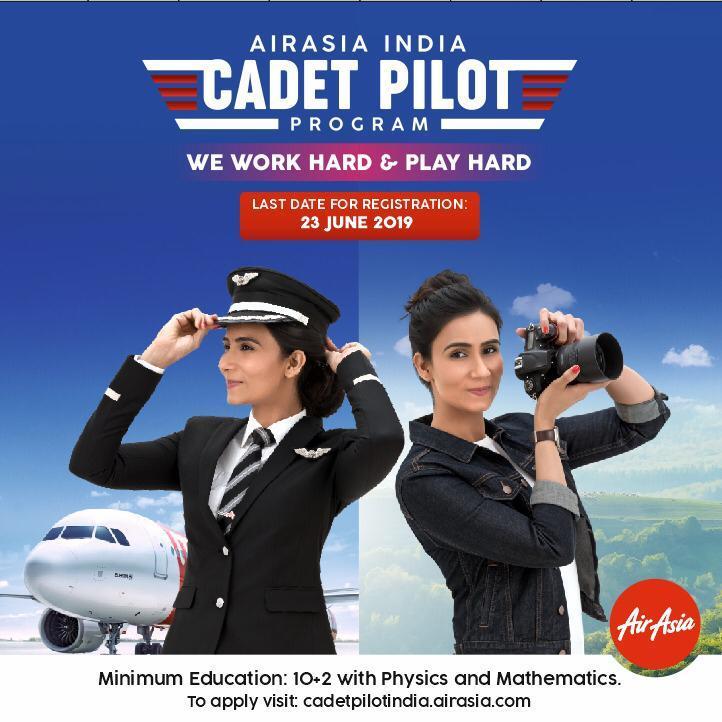 Fly Gosh Airasia India Pilot Recruitment Cadet Pilot 2019 Now Open