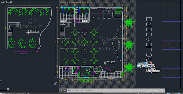 Concert Hall in AutoCAD