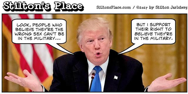 stilton's place, stilton, political, humor, conservative, cartoons, jokes, hope n' change, trump, transsexuals, military, tweet