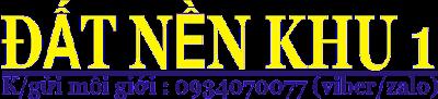 ĐẤT NỀN KDC SỐ 1 QUẬN 2-1059 ĐƠN VỊ Ở