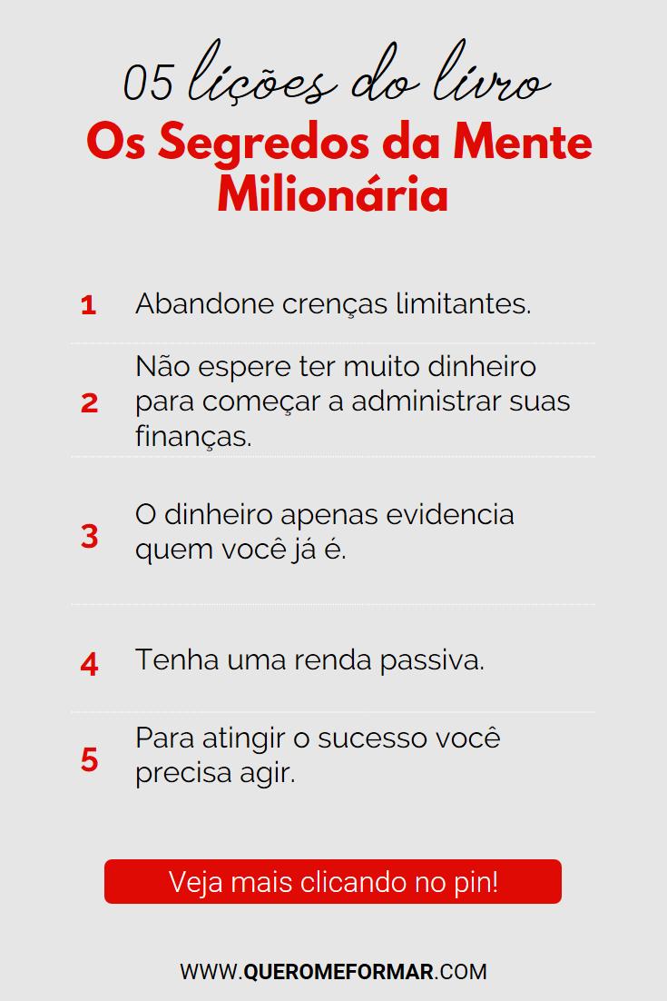 5 Coisas que o Livro Os Segredos da Mente Milionária Pode Te Ensinar Sobre Riqueza