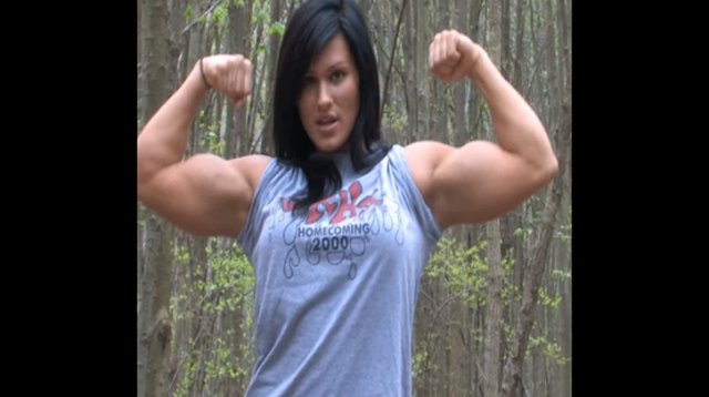 Clip Biggest female muscle girls with big and Strong Female Bodybuilder Workout