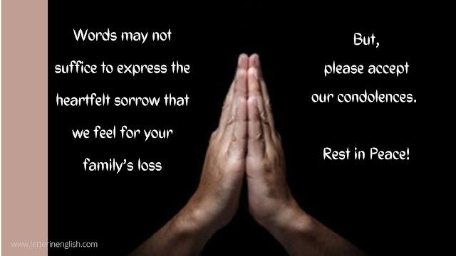 Examples Sympathy Message to Express Condolences