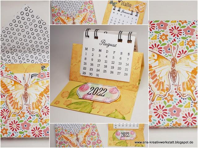 """Jahreskalender stempeln mit """"Kreative Tage"""", Mini-Tischkalender, Anleitung, Tutorial Stampin' Up! www.eris-kreativwerkstatt.blogspot.de"""