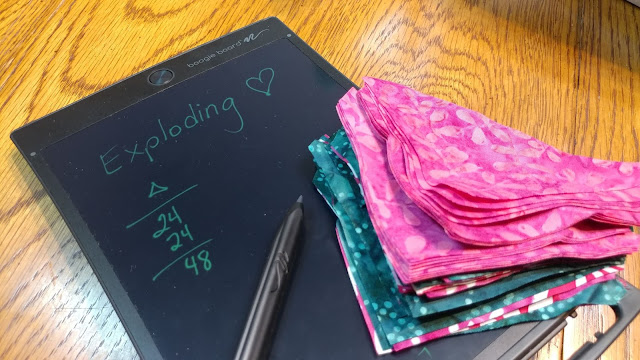 Using an LCD writing tablet for quilting