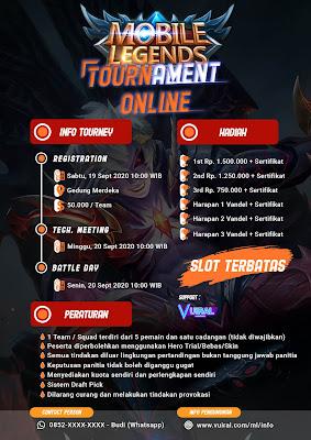 Download Mentahan Contoh Poster Turnamen Mobile Legends (ML) Versi 2