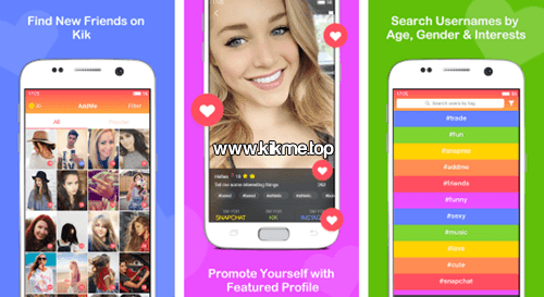 Chicas y chicos esperan conocerte en Add Friends for Kik