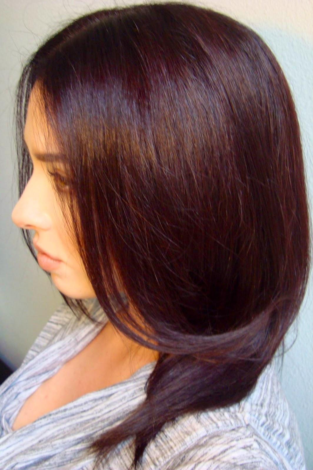 Dark Mahogany Red Brown Hair Color