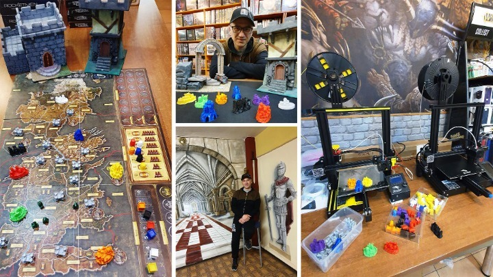 Ξάνθη: Τρισδιάστατες δημιουργίες μεταμορφώνουν τα επιτραπέζια παιχνίδια