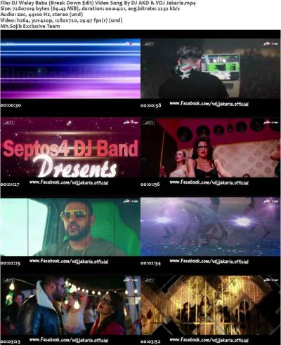 DJ Waley Babu (Break Down Edit) Video Song By DJ AKD & VDJ Jakaria HD Screenshot