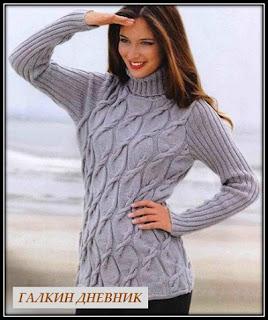 jenskii-sviter-spicami | vyazanie | toxuculuq | knitting