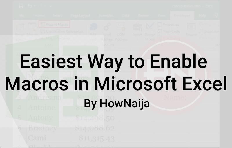 Easiest Way to Enable Macros in Microsoft Excel