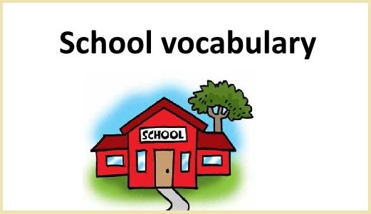 المفردات الانجليزية للتعليم والمدرسة