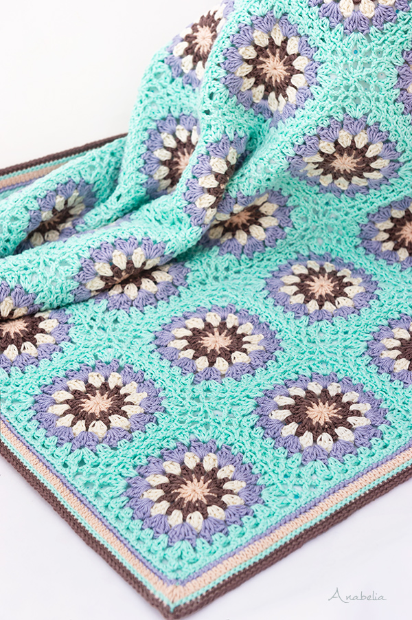 Crochet Stroller Baby Blanket pattern by Anabelia Craft Design