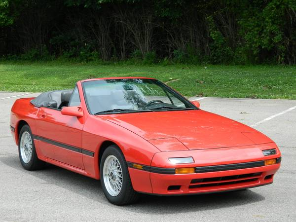 Low Miles 1988 Mazda RX7 Convertible
