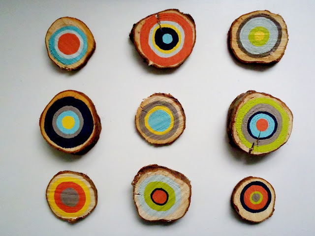 painted tree rings