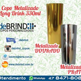 copos long drink 330-ml metalizado copo cromados