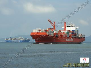 COSCO Shipping Volga e João de Solis