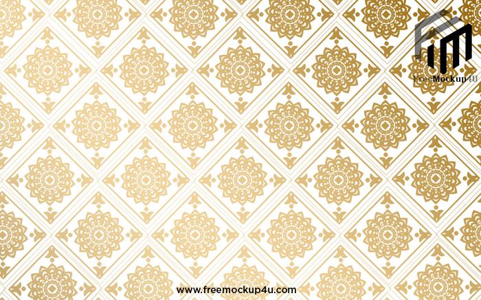 Golden Pattern Texture Wallpaper Line Wall Background 3D Models PSD