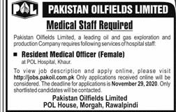 POL Jobs November 2020, Pakistan Oilfields Limited