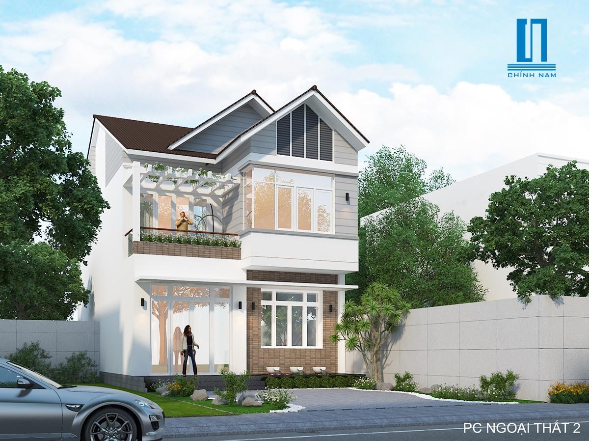 Mẫu thiết kế biệt thự 2 tầng đẹp hiện đại tại Biên Hòa