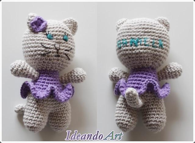 Gatita de crochet handmade