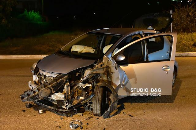 Αργολίδα: Σφοδρή με σύγκρουση τριών αυτοκινήτων στα Λευκάκια Ναυπλίου