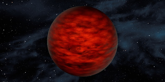 "A young, free-floating world sits alone in space in this illustration. The object, called WISEA J114724.10?204021.3, is thought to be an exceptionally low-mass ""brown dwarf,"" which is a star that lacked enough mass to burn nuclear fuel and glow like a star. Image credit: NASA/JPL-Caltech"