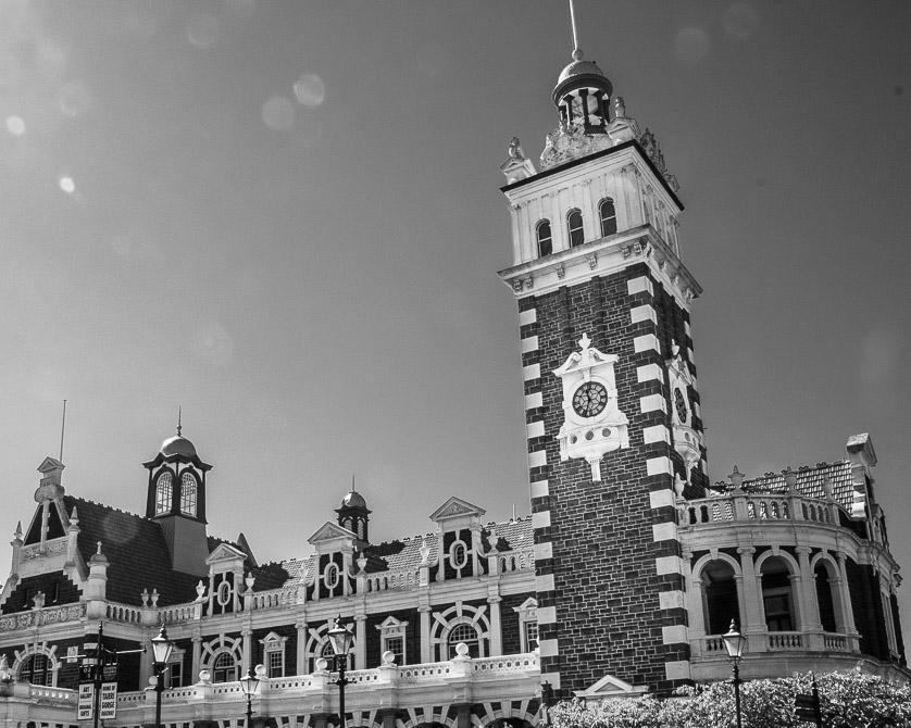 The Clock Tower of Dunedin Station.