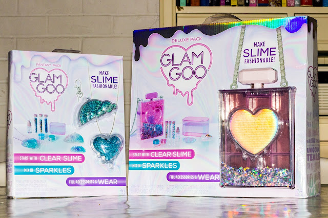 Glam Goo Deluxe Pack and Fantasy Pack in the packaging