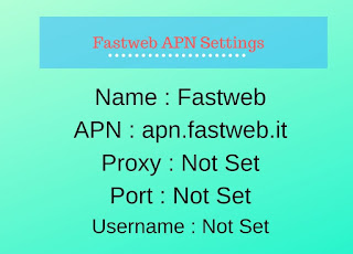 Fastweb APN Settings for Android