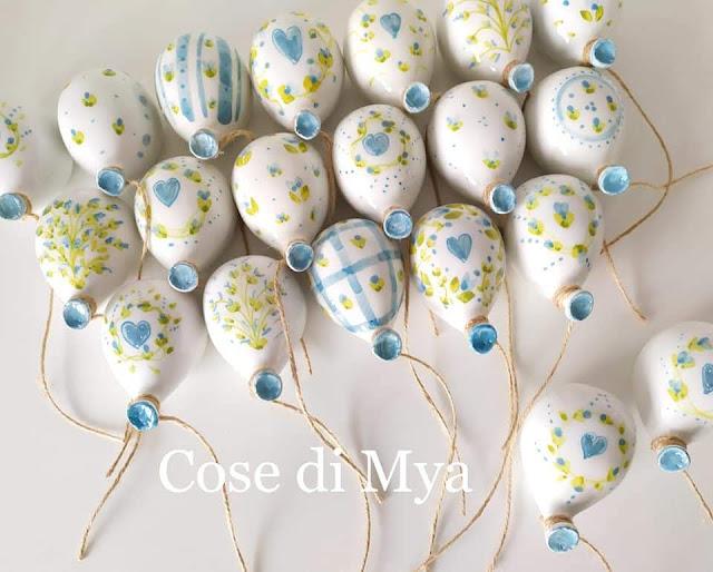 Palloncini in ceramica decorati