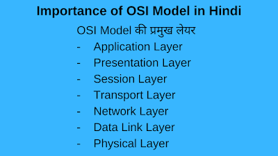 Importance of OSI Model in hindi, osi model in hindi, osi model,