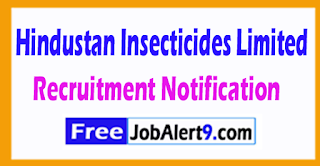 HIL Hindustan Insecticides Limited Recruitment Notification 2017 Last Date 01-08-2017