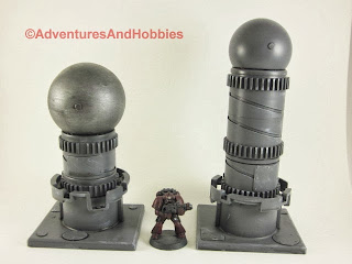 Industrial terrain pieces for 25mm to 28mm science fiction war games - Set 1