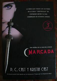 Portada del libro Marcada, de P. C. Cast y Kristiin Cast