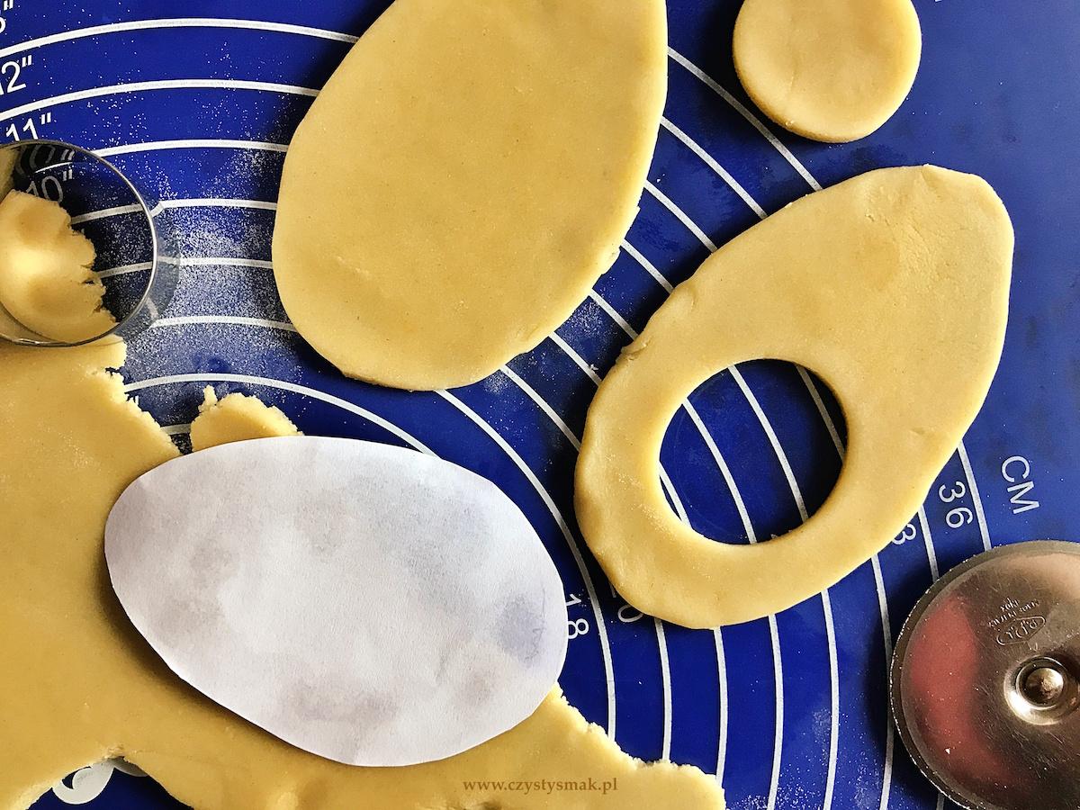 Wielkanocne ciasteczka - kruche jajeczka z lemon curdem