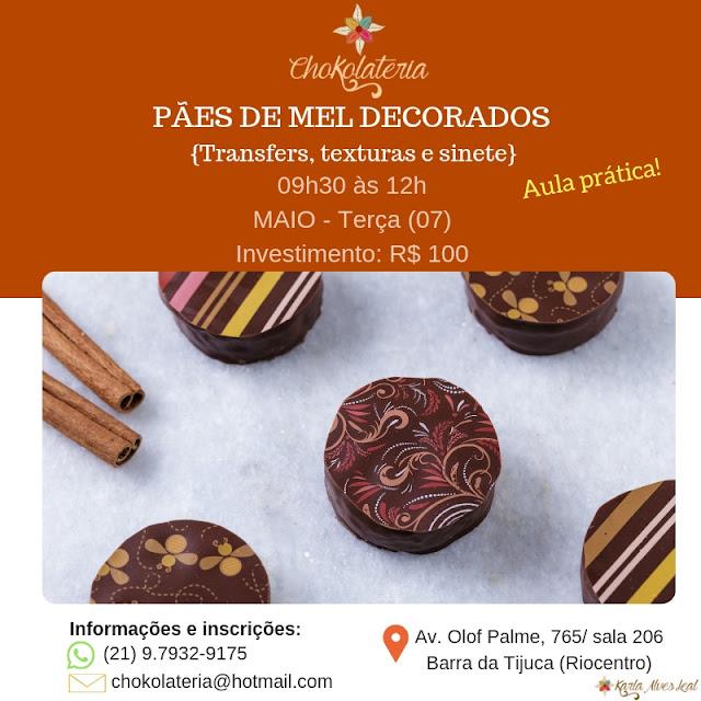Curso de Pães de Mel Decorados - Chokolateria Maio 2019
