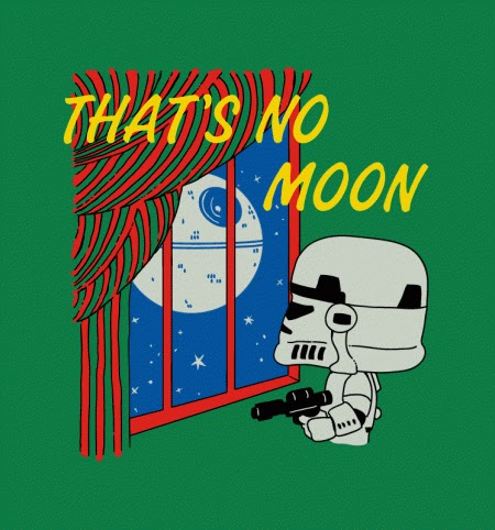 That's No Moon Graphic Tshirt