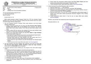 surat edaran Updating Data TPG dan Pendaftaran Sertifikasi